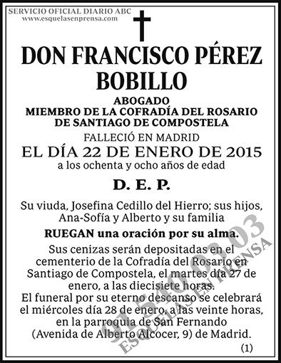 Francisco Pérez Bobillo